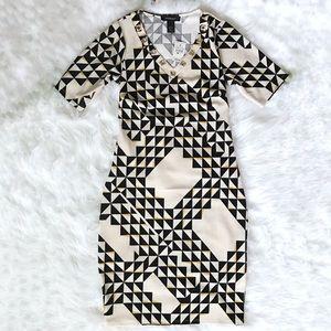 New Ashley Stewart Diamond print sheath dress